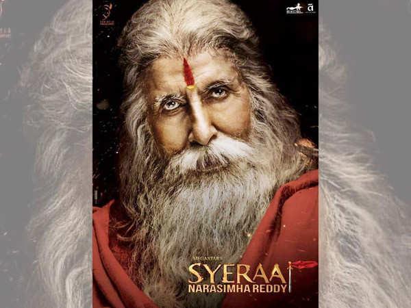 Amitabh Bachchan looks every bit fierce in the poster of Sye Raa Narasimha Reddy