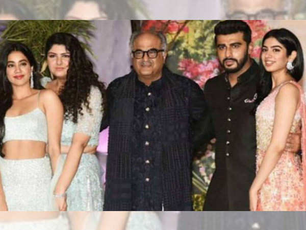 Arjun and Janhvi Kapoor wish father Boney Kapoor as he kicks off his next venture Maidaan