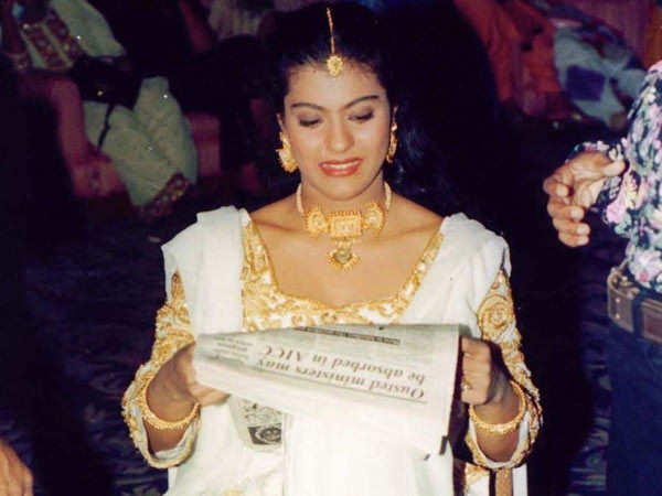 Kajol remembers the reading breaks on film sets with a throwback picture