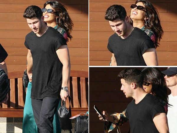 Priyanka Chopra can't stop smiling as she arrives in Boston with Nick Jonas
