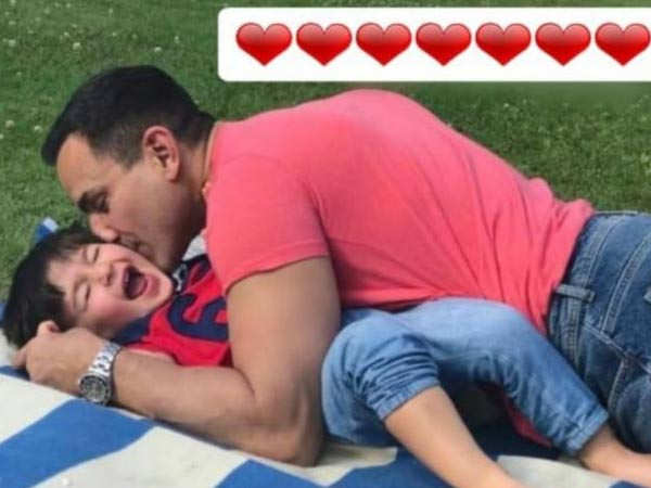 This picture of Saif Ali Khan kissing son Taimur is  the cutest thing you will see today