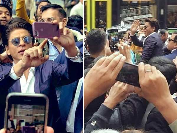 Shah Rukh Khan greeted by a sea of fans after the IIFM press conference