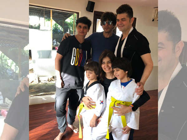 Photos: Shah Rukh Khan takes AbRam for his Taekwondo class