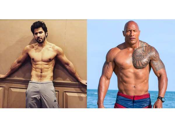 Varun Dhawan and Dwayne Johnson are are all praise for each other
