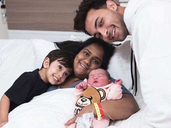 First pictures: Arpita Khan and Aayush Sharma with daughter Ayat Sharma