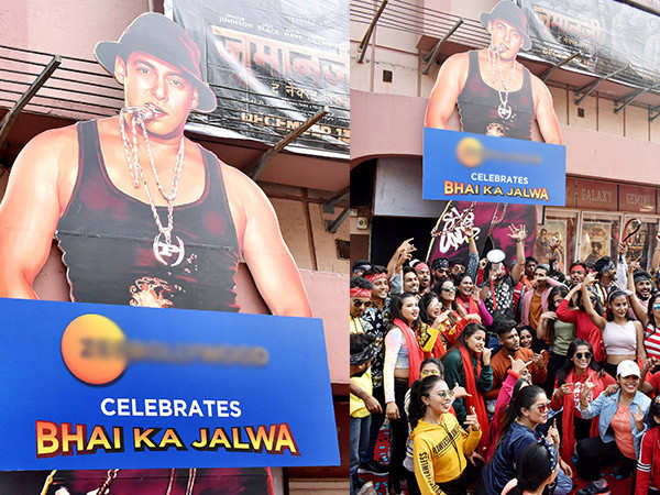 Salman  Khan's fans go all out as Dabangg 3 hits the theatres