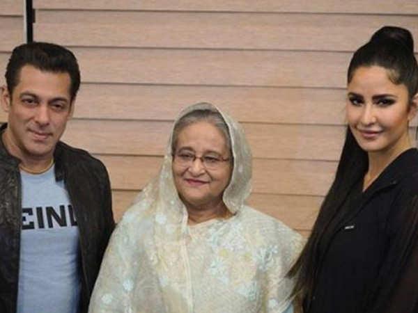 Salman Khan and Katrina Kaif meet Bangladesh PM Sheikh Hasina