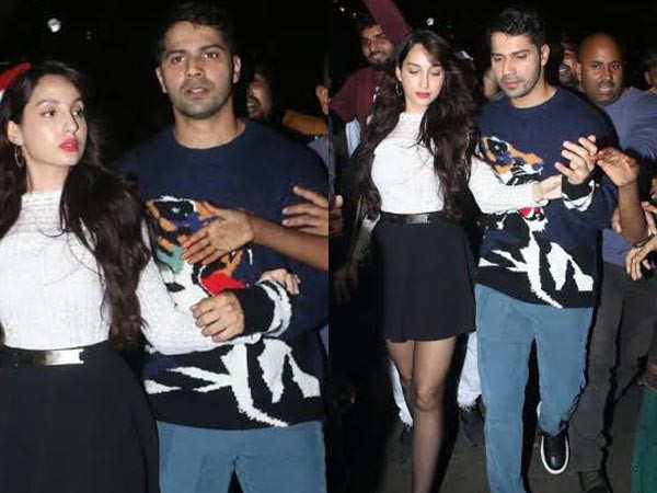 When the paparazzi came to Varun Dhawan and Nora Fatehi's rescue