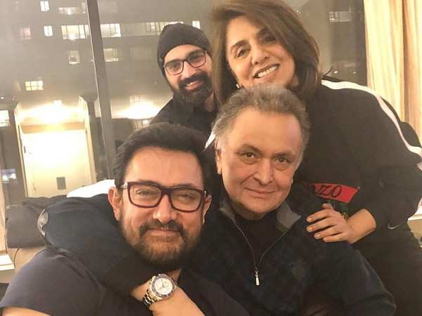 Aamir Khan visits Rishi Kapoor in New York and it was all about love