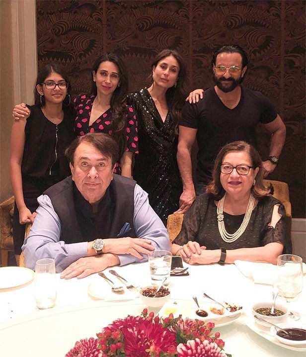 Karisma Kapoor, Kareena Kapoor Khan, Saif Ali Khan, Randhir Kapoor, Babita Kapoor, Armaan Jain, Samiera Kapoor, Filmfare