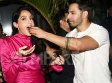 Varun Dhawan lights up Nora Fatehi's birthday bash