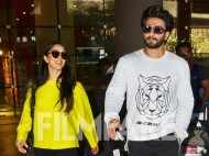Ranveer Singh and Kiara Advani snapped together at the Mumbai airport