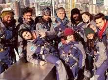 Varun Dhawan and Shraddha Kapoor shoot for Street Dancer on top of O2 arena