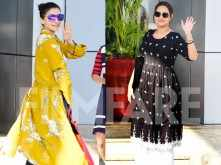 Alia Bhatt and Sonakshi Sinha leave for the last schedule of Kalank