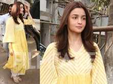Alia Bhatt looks radiant in yellow after a salon session