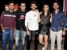 Kartik Aaryan and Kriti Sanon have a blast at Luka Chuppi wrap up bash