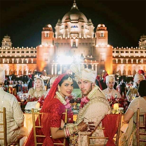 Nick Jonas blows a kiss to Priyanka Chopra in this unseen wedding picture