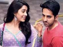 Ayushmann Khurrana and Nushrat Bharucha spotted on the sets of Dream Girl