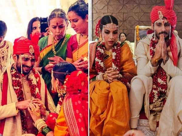 Photos: Prateik Babbar and Sanya Sagar are now officially married