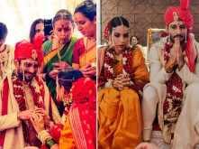 Photos: Prateik Babbar and Sanya Sagar are now officially married