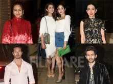 Kartik Aaryan, Janhvi Kapoor, Tiger Shroff, Sonakshi Sinha party together