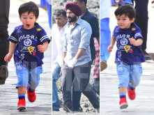 Taimur Ali Khan's day out on the sets of dad Saif Ali Khan's next project