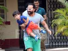 Saif Ali Khan and Taimur Ali Khan's latest pictures are too cute to miss