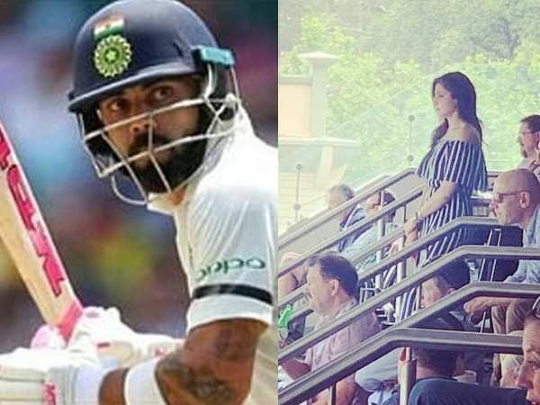 Anushka Sharma spotted cheering for Virat Kohli in Sydney