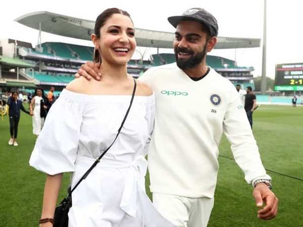 Anushka Sharma and Virat Kohli look all things love celebrating India's win