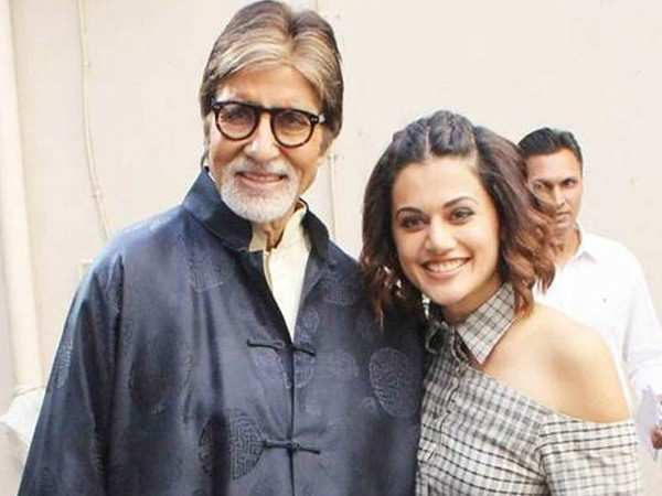 Amitabh Bachchan shares a text from Taapsee Pannu on Twitter