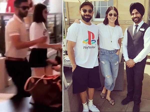 Virat Kohli spends his rest day with wife Anushka Sharma in England