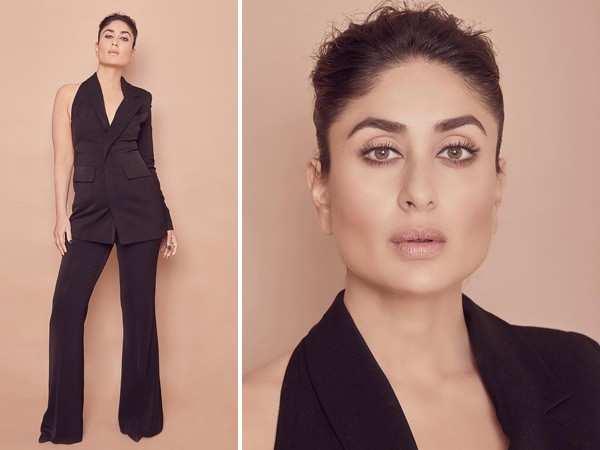 Kareena Kapoor Khan in a black pantsuit is pure magic