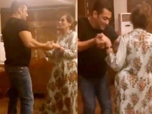 This video of Salman Khan and Salma Khan dancing to Cheap Thrills is too cute to miss