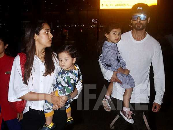 Shahid Kapoor and wife Mira Kapoor leave for a family vacation