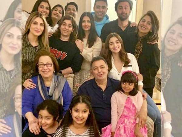 Abhishek Bachchan, Aishwarya Rai Bachchan, Alia Bhatt & Ranbir Kapoor bond with Rishi Kapoor in NYC