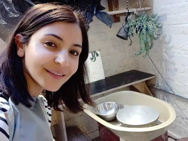 Anushka Sharma is learning pottery in London