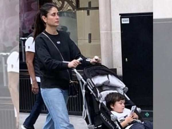 Photo Alert! Taimur Ali Khan enjoys a stroll with mamma Kareena Kapoor Khan in London
