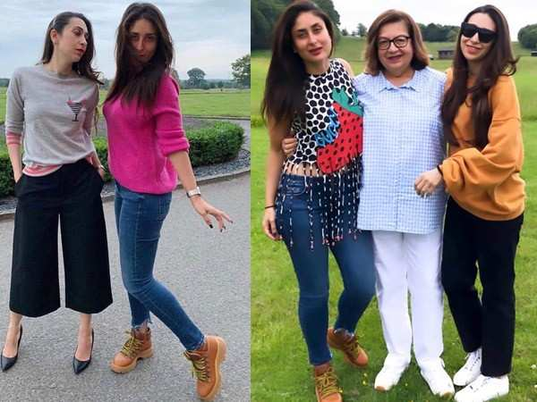 Karisma Kapoor celebrates her 45th birthday with Kareena Kapoor Khan and Babita Kapoor in London