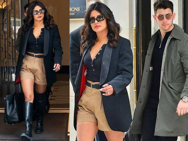 Priyanka Chopra opts for the comfiest look in her latest outing with Nick Jonas