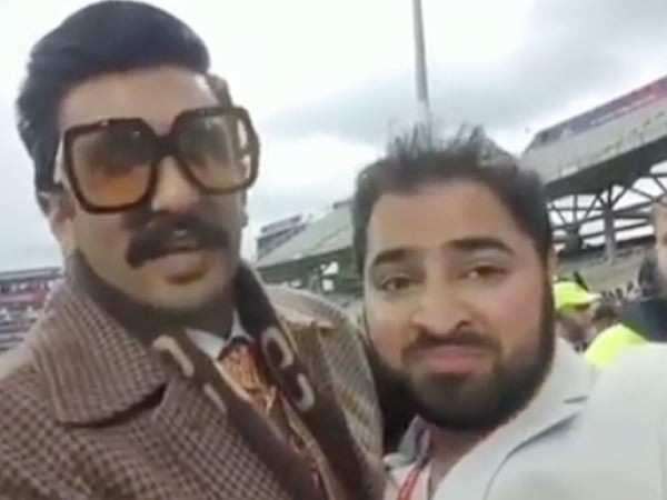 Ranveer Singh consoles a Pakistani fan after defeat against India