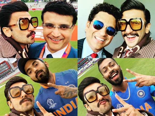 Ranveer Singh can't stop cheering for Team India, shares series of pictures