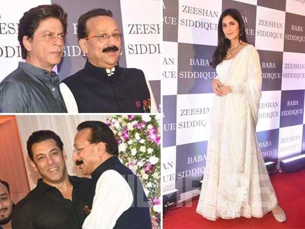 Salman Khan, Shah Rukh Khan, Katrina Kaif at Baba Siddique's Iftar party