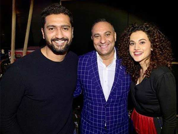 Photo: Taapsee Pannu and Vicky Kaushal at Russell Peter's show