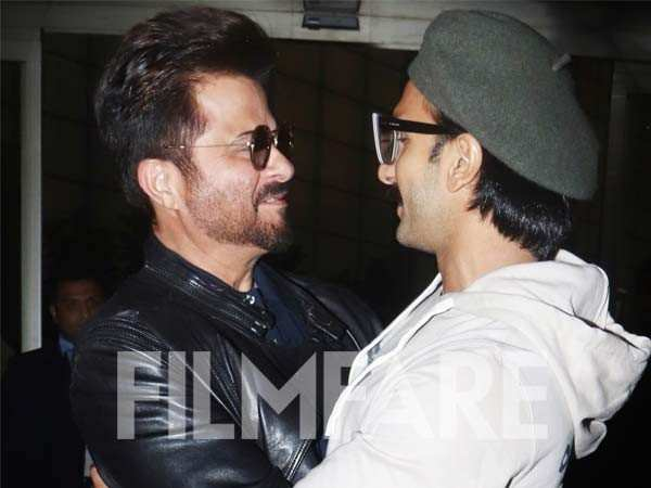 Anil Kapoor and Ranveer Singh catch up at the Mumbai airport