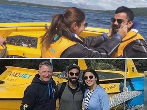 Watch Anushka Sharma and Virat Kohli enjoying a romantic boat ride