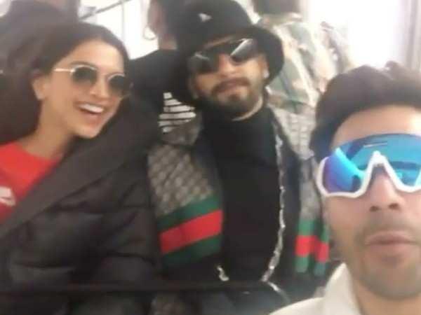 Video: Deepika Padukone and Ranveer Singh adopt Varun Dhawan