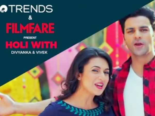 Filmfare and Trends celebrate Holi with Divyanka and Vivek