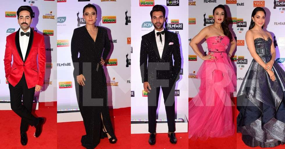 Ayushmann Khurrana, Rajkummar Rao, Kajol at the 64th Vimal
