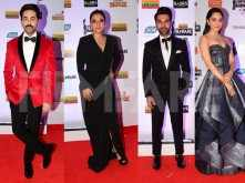 Ayushmann Khurrana, Rajkummar Rao, Kajol at the 64th Vimal Filmfare Awards
