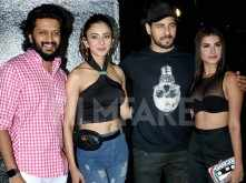 Sidharth Malhotra and Tara Sutaria at the wrap-up party of Marjaavaan